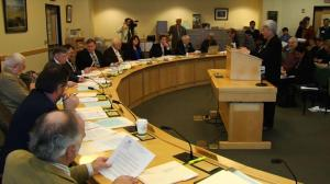 Rep. Soctomah testifies before Marine Resources Committee. (photo via WABI-5, Bangor)