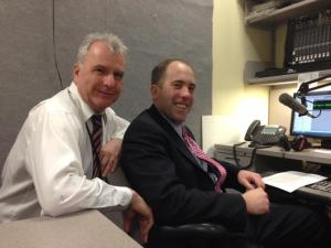 Senate Majority Leader Seth Goodall with MPBN News's AJ Higgins