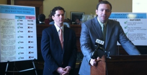 "Governor LePage's ""Liberal Elitists in Augusta"" (aka Senate President Justin Alfond and Speaker of the House Mark Eves) once again refuse to provide Maine with a plan to pay off Maine's hospital debt. NOTE: Completely ignore, as the Maine Wire and Maine GOP do,  the information behind the nefarious pair of no-goodniks!"