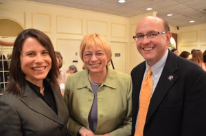 DA Maeghan Maloney, AG Janet Mills and Sec. of State Matt Dunlap at EmergeMaine's 2013 naming of Mills as Woman of the Year.