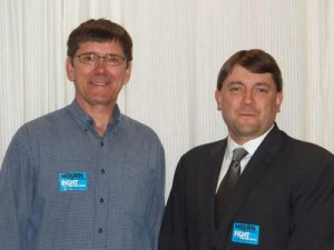 Senators John Patrick (D-Oxford) and Troy Jackson (D-Allagash)