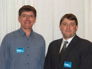 Senators John Patrick (D-Oxford) and Troy Jackson (D-Allagash)