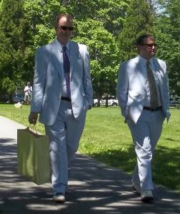 Rob Hopkins and Michael George from Pennsylvania, before their wedding.