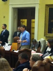 Senator Troy Jackson (D-Aroostook) speaking in support of Medicaid expansion bill.