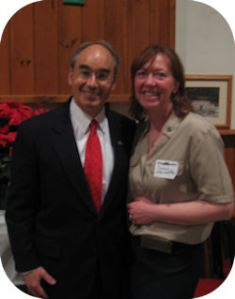 "Susan Morissette from her ""For the People"" website, poses with Bruce Poliquin. 'Nuff said."