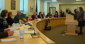 Senator Colleen Lachowicz (Kennebec) testifies before HHS Committee on LD 1636.