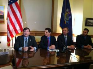 "Senate Majority Leader Troy Jackson (D-Aroostook): The Governor's ""open for business"" zones are more like the Twilight Zone."