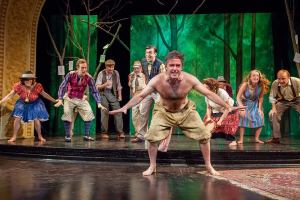 Amiens (aka James Noel Hoban) and Company in the Forest of Arden in TAM's 2014 production of As You Like It. Directed by Catherine Weidner. Photo by Rene MInnis.  (Via TAM FB page)