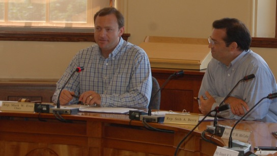 Speaker of the House Mark Eves and House Majority Leader Seth Berry during 7/24/14 Legislative Council meeting.