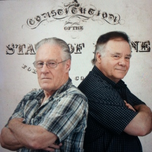 Wayne Leach and phil Merletti (photo via Lewiston Sun Journal, 7/6/14)