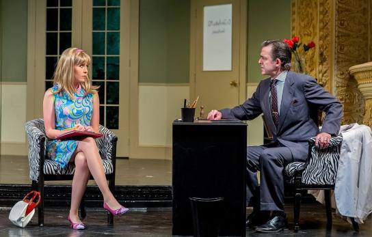 Who knew a job interview could go so terribly, terribly wrong? Orton's What the Butler Saw is for mature audiences only! Call the box office at 933.9999 for tickets. — with Anna Doyle and James Noel Hoban. (from TAM's Facebook page)