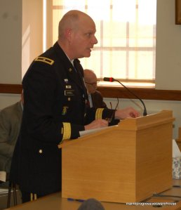 ME Adjunct General Brig. Gen. James D. Campbell speaks before Approriations Committee