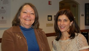 Lois Kilby-Chesley, Maine Education Association president, and Rep. Sara Gideon